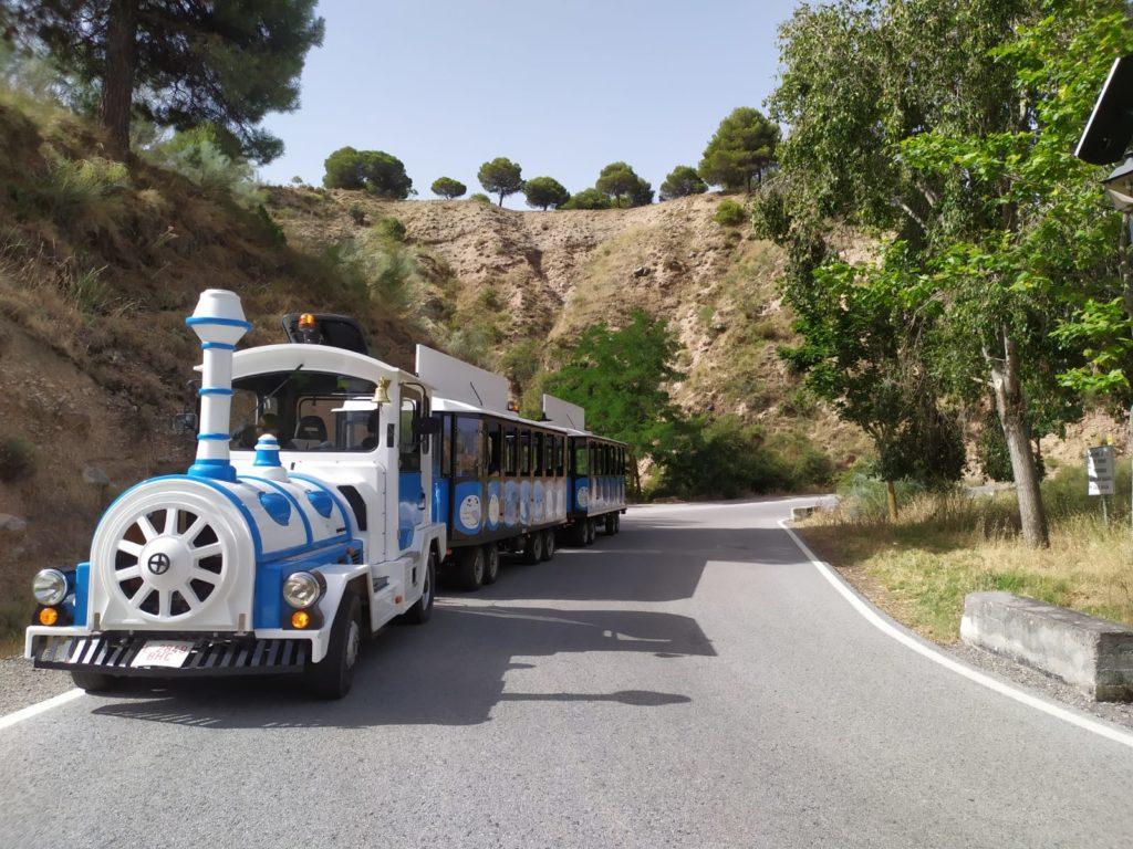 foto tren en carretera_tren del patrimonio